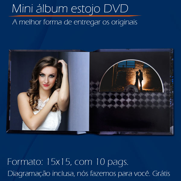 Mini álbum estojo DVD
